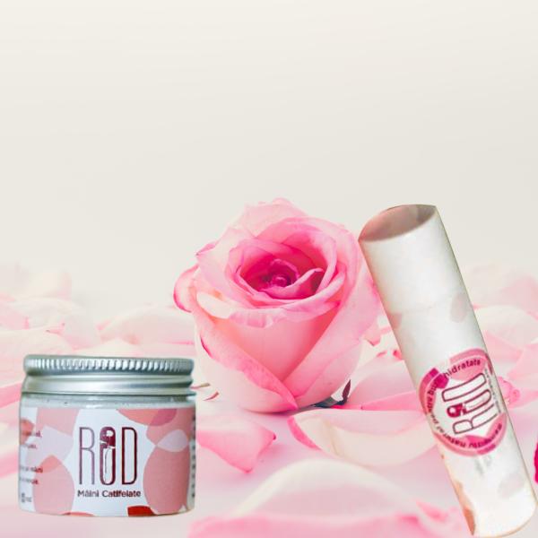 pachet crema pentru maini si balsam pentru buze